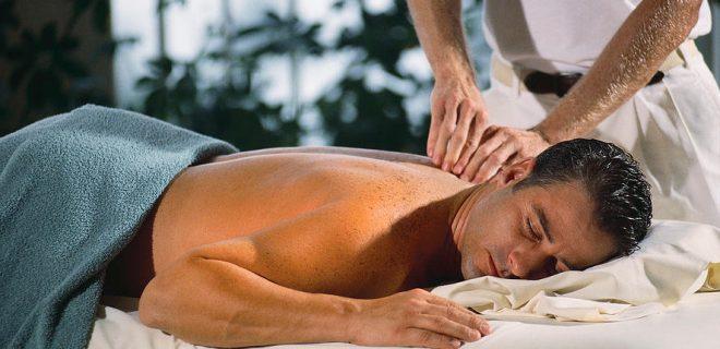Getting a Massage ca. 1990s